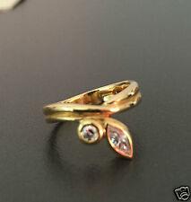 Brillantring 750er Gold Ring Navette Brillant ges. ca. 0,34 ct Gelbgold Goldring