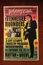 "TENNESSEE ROUNDERS ""JOHNNY CASH Tribute"" Austin TX (2007) Concert Poster"