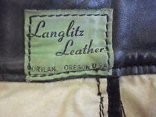 "1947 Vintage Green Label Langlitz Leather Pants USA Rare 30X30"""