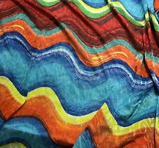 "Chiffon Knit Fabric - Bright Waves Jacquard Stretch 54"" by the yard"