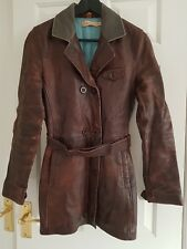 Mesdames Timberland Cuir Trench Coat, XS