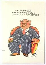 Cartolina Umoristica Altan - Il Padrone Non E' Mai Assenteista