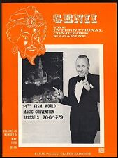 Claude Klingsor FISM Brussels Genii Magicians Magazine May 1979-contents in post