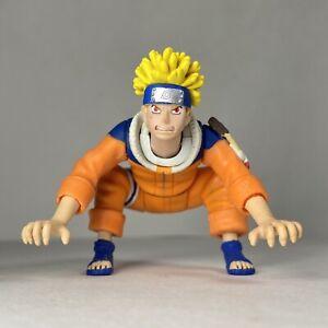 "Naruto Uzumaki 4"" Action Figure Masashi Kishimoto 2002 Crouch Bounce Toy"