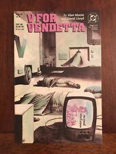 Dc Comics V for Vendetta #4 Copper Age 1988 Alan Moore David Lloyd First Print