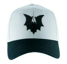 Black Vampire Bat on Gray Hat Baseball Cap Goth Punk Psychobilly Alternative Emo