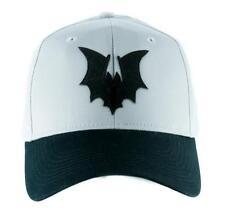 Black Vampire Bat on Gray Hat Baseball Cap Goth Punk Psychobilly Alternative Emo