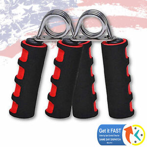 2X Exercise Foam Hand Grippers Forearm Grip Strengthener Grips heavy - ONE PAIR