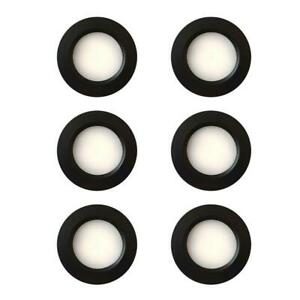 6 x LED 12V 24V Spot Lights Dimmable Caravan Boat Black Recessed Downlight