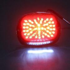 LED Smoke Tail Light License Plate Brake Lamp For Harley Softail Dyna Sportster