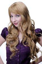 Perruque Femmes Rouge Blond Fraise Long Raie Ondulés Bouclée 70 Cm 9204S-19