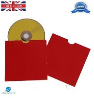25 CD DVD Card board Wallet / Sleeves with Thumb Cut Red Blank NEW HQ AAA
