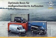 Prospekt Opel Nutzfahrzeuge Aufbauten 3 08 Autoprospekt 2008 Vivaro Movano Auto
