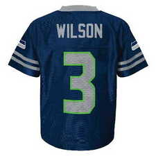 (2017-2018) Seattle Seahawks RUSSELL WILSON nfl Jersey YOUTH KIDS BOYS (s-small)