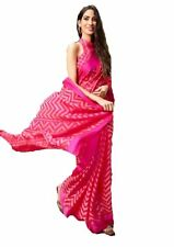 Bollywood Style Women's Kota Doria Brasso Silk Saree With Blouse Piece