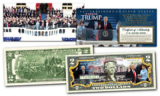 DONALD TRUMP 2017 OFFICIAL INAUGURATION U.S. $2 Bill w/ 2-Sided Certificate
