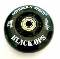2x 80mm OUTDOOR Inline Skate Wheels w Bearings rollerblade roller hockey asphalt
