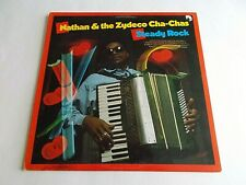 Nathan & The Zydeco Cha Chas Steady Rock LP 1989 Rounder Vinyl Record