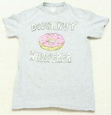 Small Doughnut Whisperer Gray Tee T-Shirt Mens Top Short Sleeve Cotton Polyester