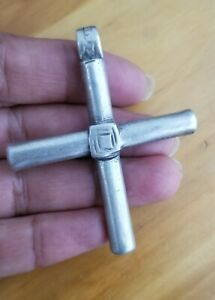 Antique EIthiopian Silver Cross Pendant Hand Crafted Orthodox Coptic Christian