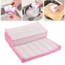 5PCS Cotton Fiber Wash Towel Washing Cleaning Dish Cloth Kitchen Cloth
