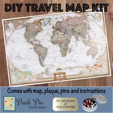 DIY Executive World Push Pin Travel Map Kit