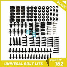 Black 162Pcs Fairings Bolt Kit Fastener Nuts Screws for ZZR 600 1400 250 400