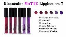 6 PCs Kleancolor Madly MATTE Lipgloss - Bold & Vivid Color Matte Lipgloss Set 7