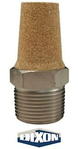 "CMF68 Dixon 3/4"" NPT Pneumatic Exhaust Muffler Conical Sintered Bronze  NEW!"