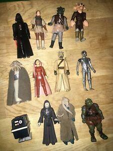 Vintage Star Wars Figures Job Lot Kenner Hasbro Darth Vader Bespin Power Droid