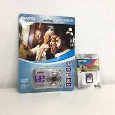 Sanyo VPC-S1213 Digital Camera Silver - Sealed w/ 4GB SD Card #413