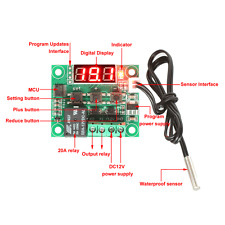 W1209 12V -50-110°C Digital thermostat Temperature Control Switch sensor Module