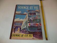 (F1) SCIENCE ET VIE HORS SERIE CHEMINS DE FER 1952 COUVERTURE CARTON