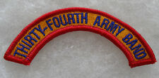 "2000'S NEW ISSUE ""THIRTY-FOURTH ARMY BAND"" COLOR ME NUMBERS SPELLED OUT"