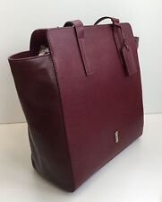 HOBBS Whiston Burgundy Leather Tote Style Shoulder Bag New with Tags