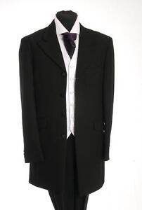 BLACK HERRINGBONE PRINCE EDWARD JACKET WEDDING/DRESS/SUIT/FORMAL MJ-35.