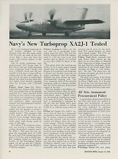 1952 Aviation Article North American XA2J-1 Attack Bomber Test Plane Navy USN