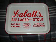 Vintage Labatt's Porcelain Ale Lager And Stout Tray London Canada
