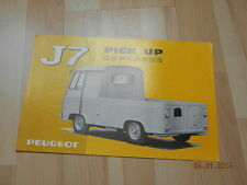 catalogue PEUGEOT J7 Pick up 5/6 places 1968