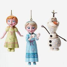 Jim Shore Disney Frozen Elsa Anna Olaf Ornament set 4046062 New in box