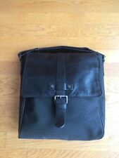 "Kenneth Cole Messenger Bag Briefcase 11""L X 12""Tall X 5""W- Leather/Nylon Man Bag"