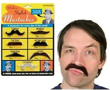 Fake Stylish Mustaches Self-adhesive 7 Set Colored Fun Moustache Costume Party