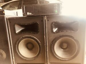 Meyer Sound 500/a Power Amp And Two Full Range 500 Speakers