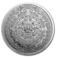 USA Azteken Aztec Calendar Aztekischer Kalender 5 oz 999 Silber Silver Round