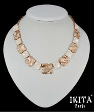 Luxus Halskette  Metall Ikita Paris Statement Kette Collier Emaille