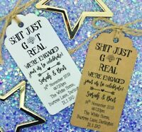"Engagement / Wedding Invitation - ""S* Just Got Real"", Save The Date"