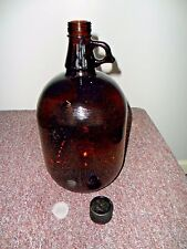 4 Glass 1 Gallon Amber Bottles Jug New with cap Stopper Chemical  Food Grade