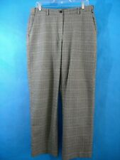LL Bean Womens Pants 10 Plaid Classic Fit Soft Cotton Work Career Houndstooth