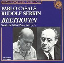 CD: BEETHOVEN Sonatas for Cello & Piano Nos 3 4 5 CASALS/SERKIN nm