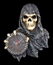 Horloge murale REAPER - Deine heure ist venu - gothique squelette Grim montre